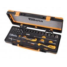 """Conjunto chaves de caixa 3/8"""",caixa metálica,roquete punho rotativo"""